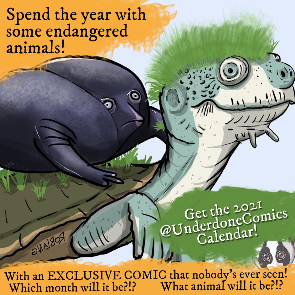 2021 Underdone Comics Caldendar